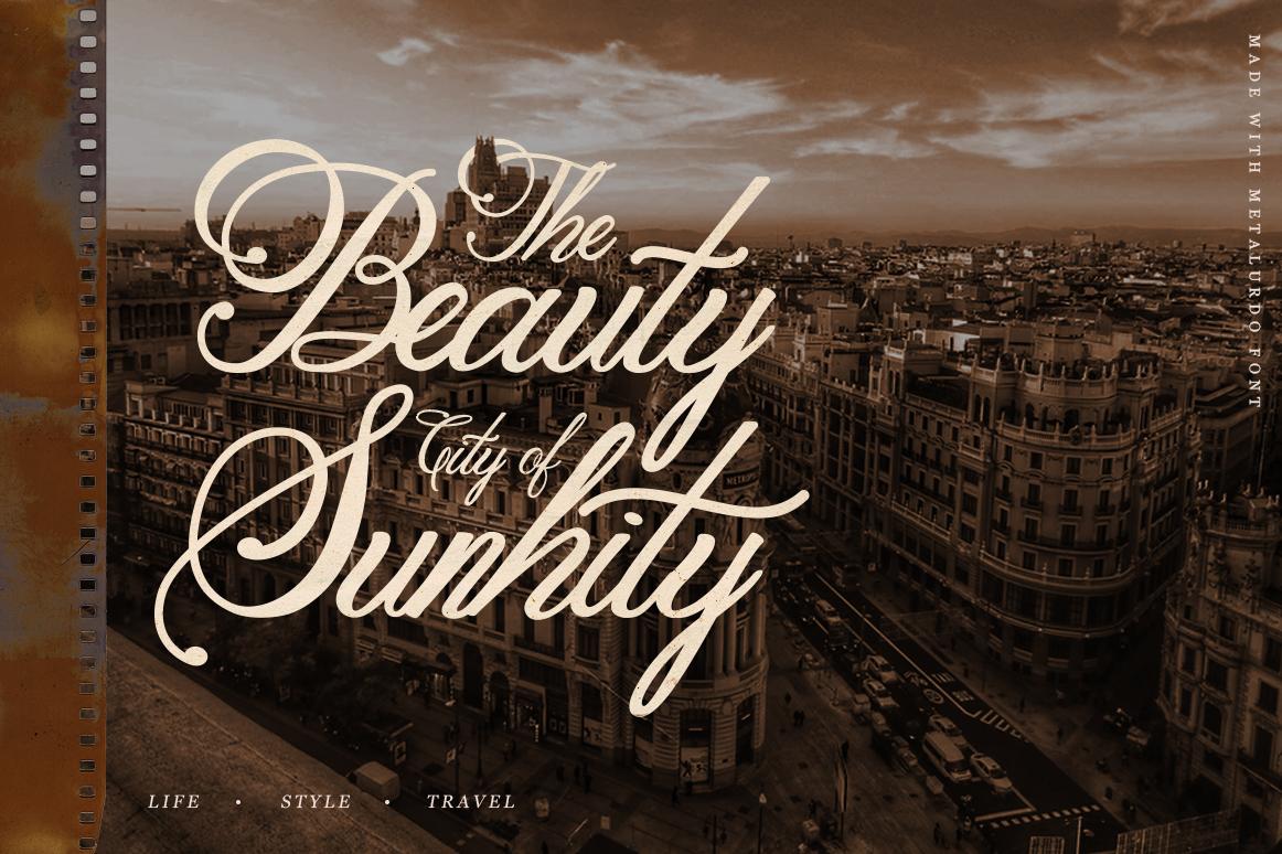 Metalurdo Calligraphy Font example image 2