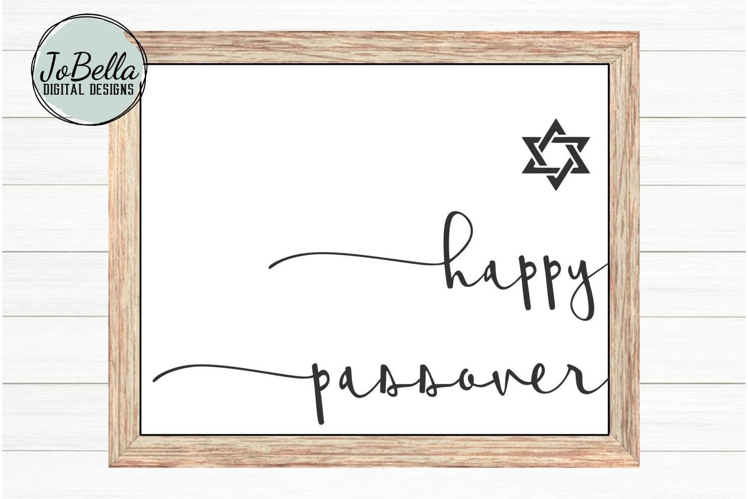 Happy Passover SVG and Printable with Jewish Star example image 1