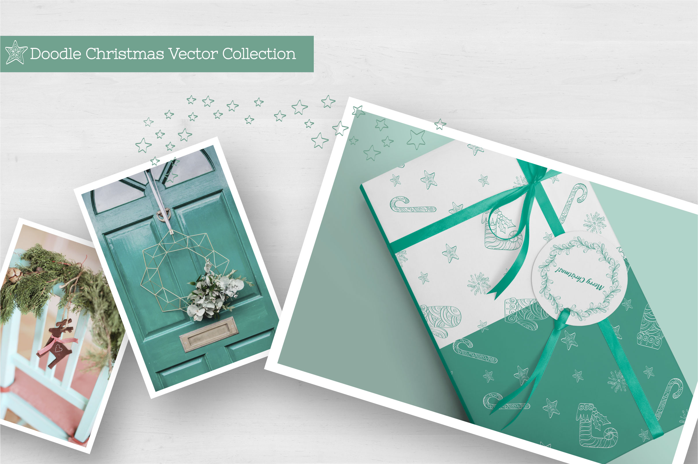 Doodle Christmas Vector Collection example image 8