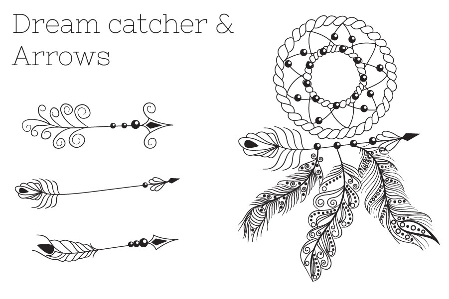 Zenart Boho Feathers Set example image 4