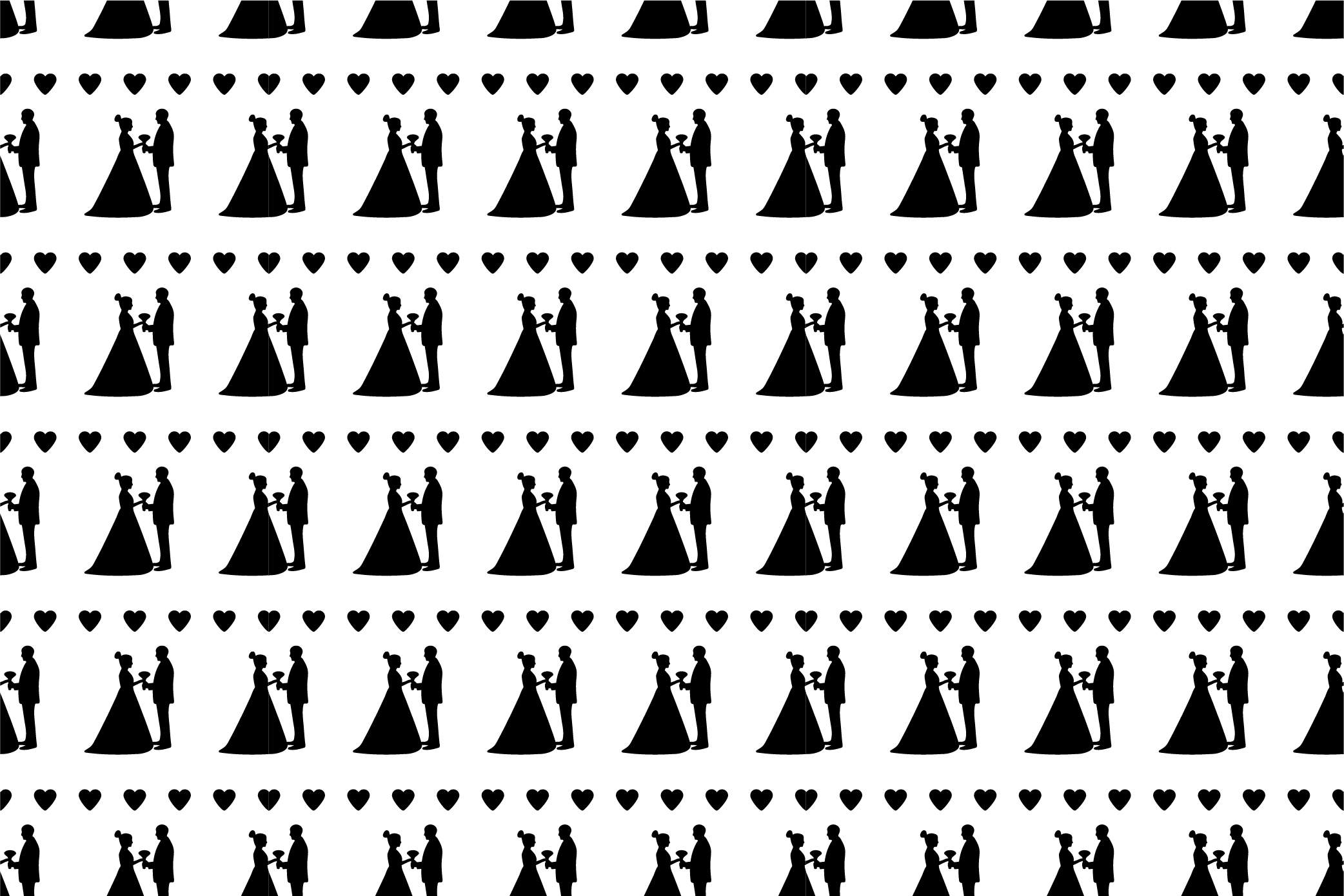 Black and white wedding digital paper. SVG, Ai, EPS 10, JPEG example image 9