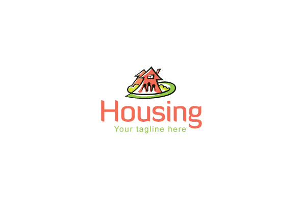 Housing - Real Estate Logo Design Template for Residentia example image 1