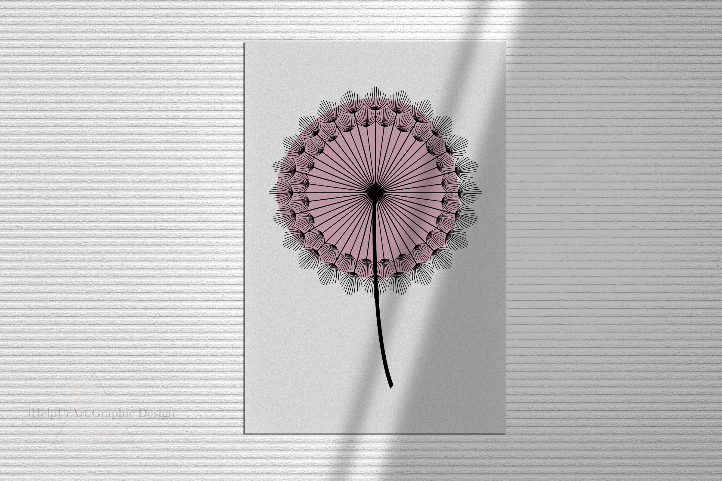 Dandelion Clipart - Floral Design - Modern Abstract Flowers example image 4