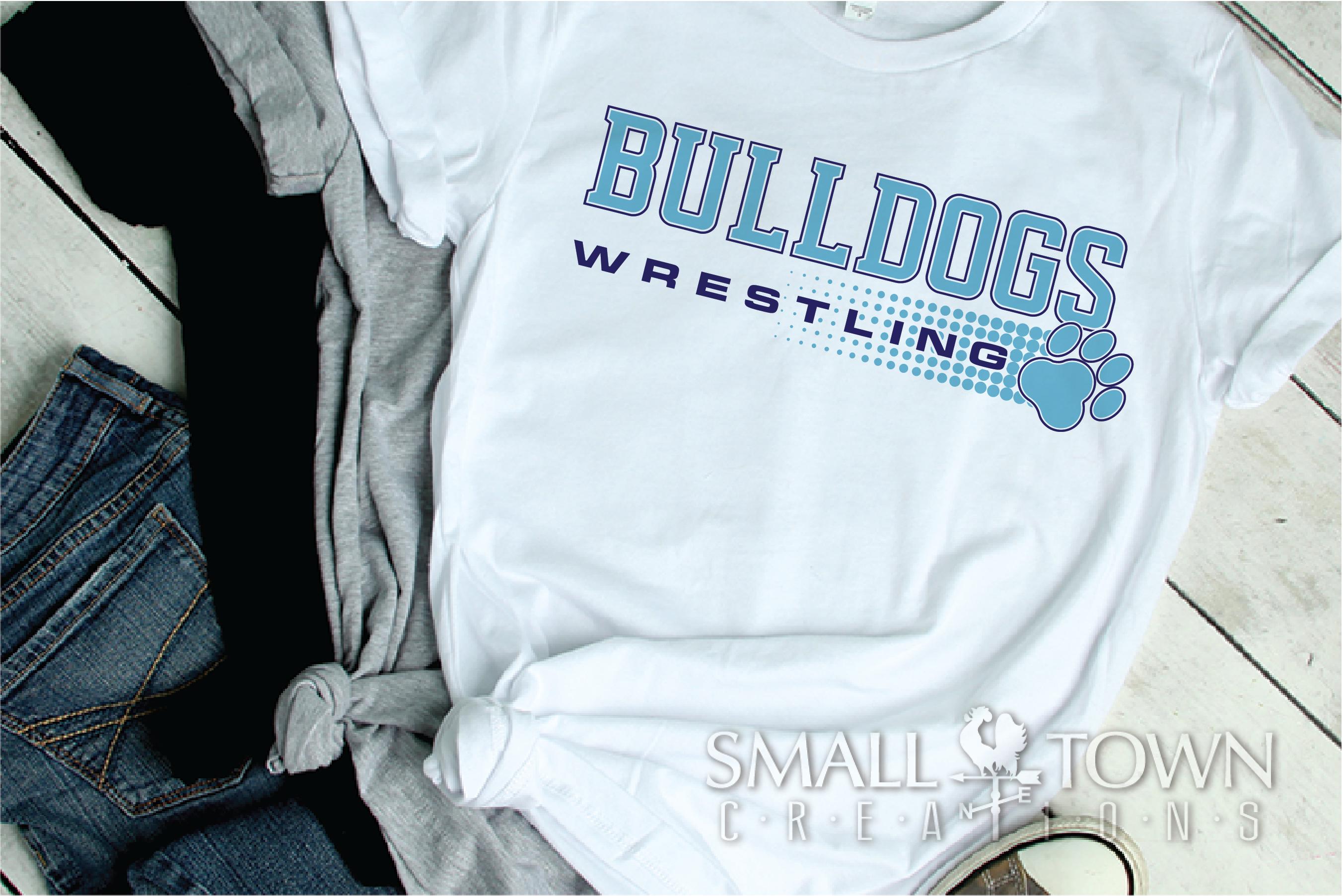 Bulldog, Wrestling, Team, Sports, Logo, PRINT, CUT & DESIGN example image 2