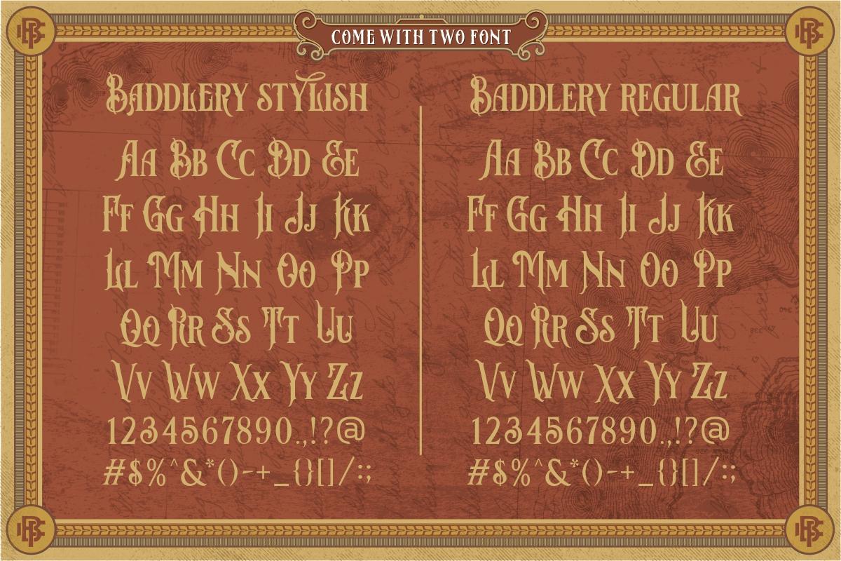 Baddlery Vintage Typeface example image 7