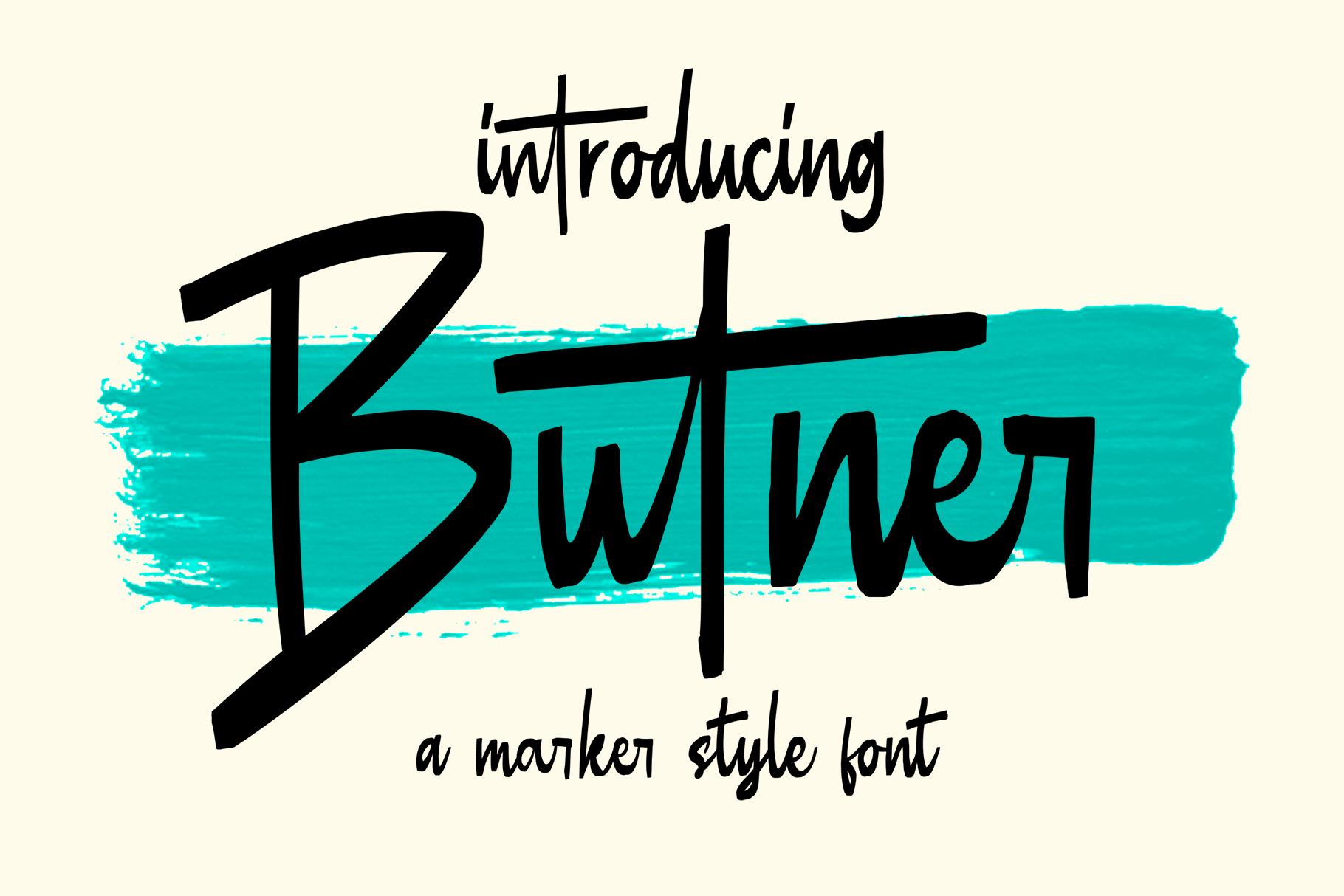 Butner - Marker Font example image 1