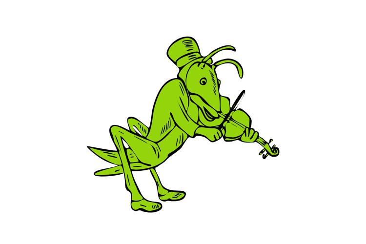 Grasshopper Fiddler Drawing example image 1