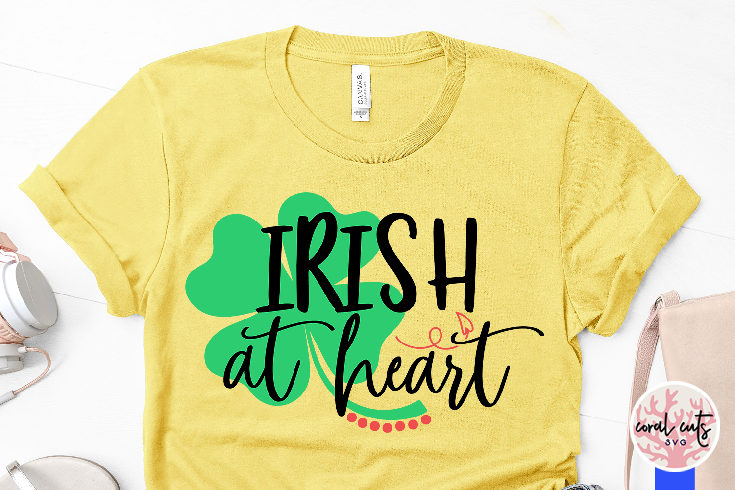 Irish at heart - St. Patrick's Day SVG EPS DXF PNG example image 3
