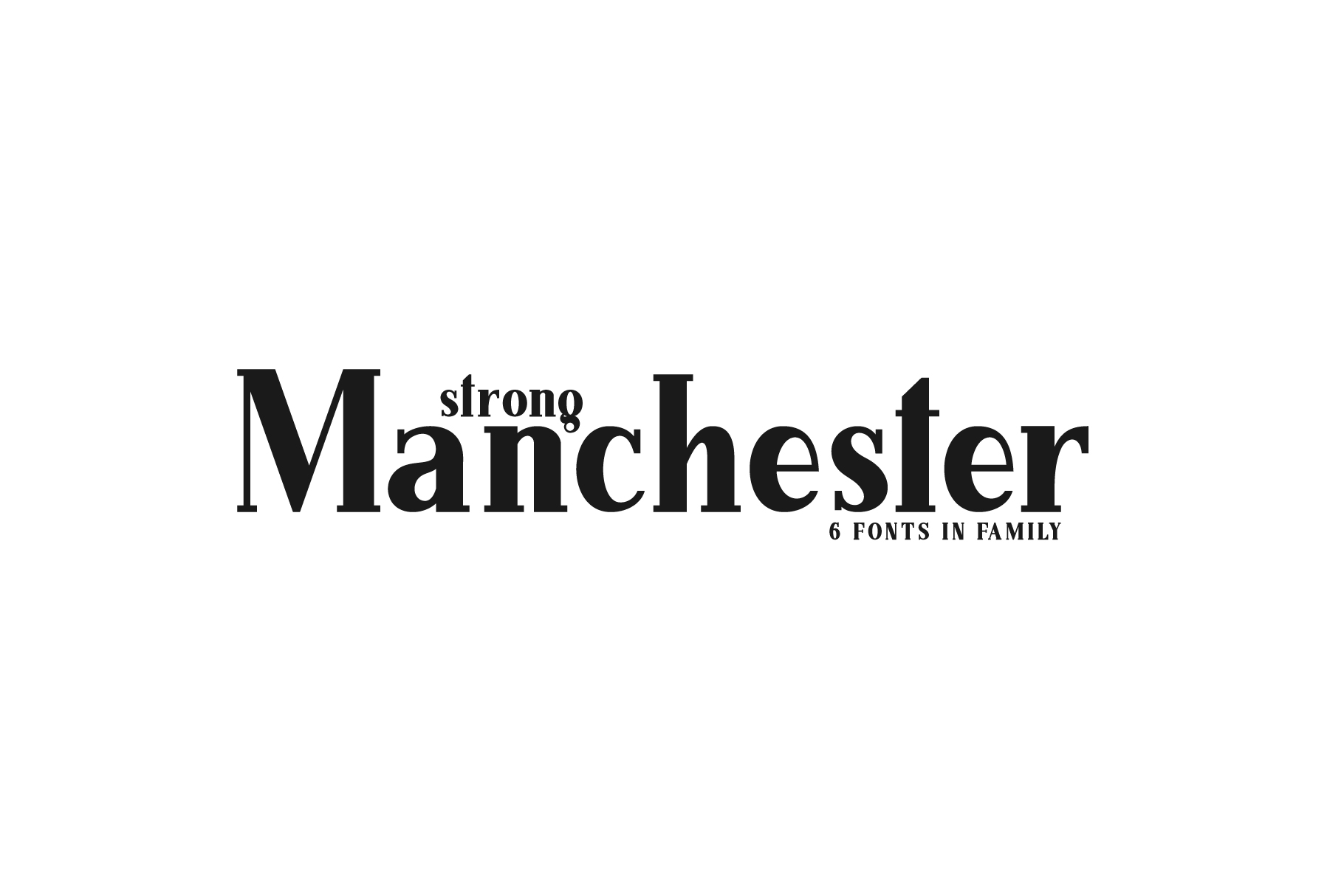 Manchester. Serif family. example image 2
