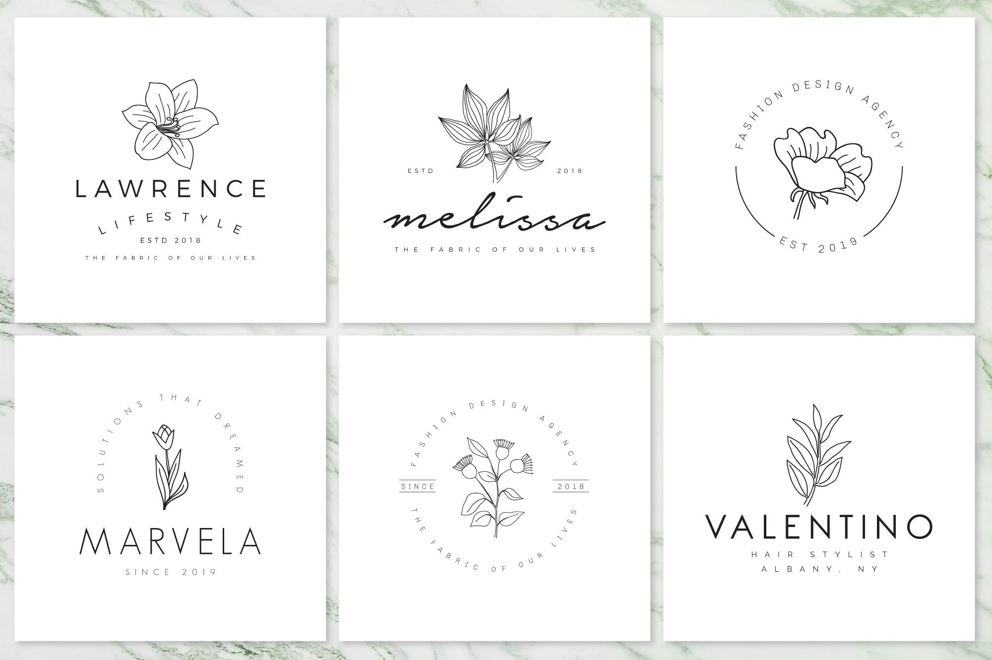 Feminine Branding Premade Logos V02 example image 3