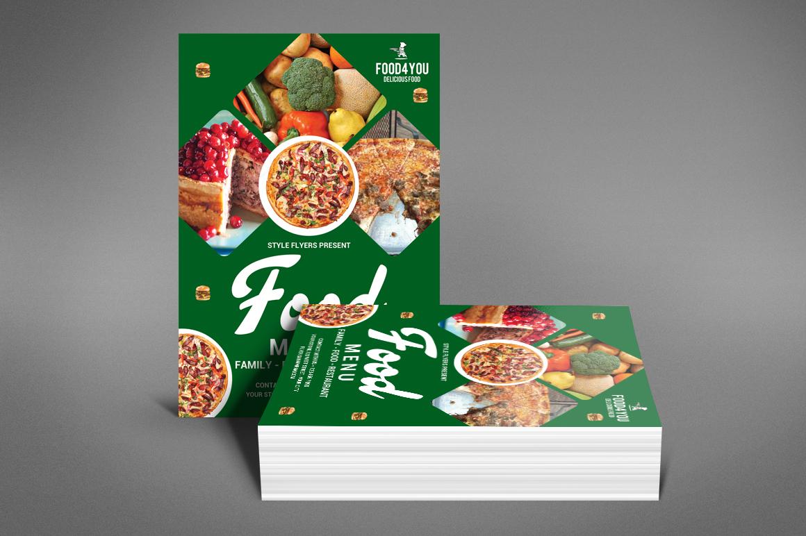 Food Menu Flyer Template example image 2