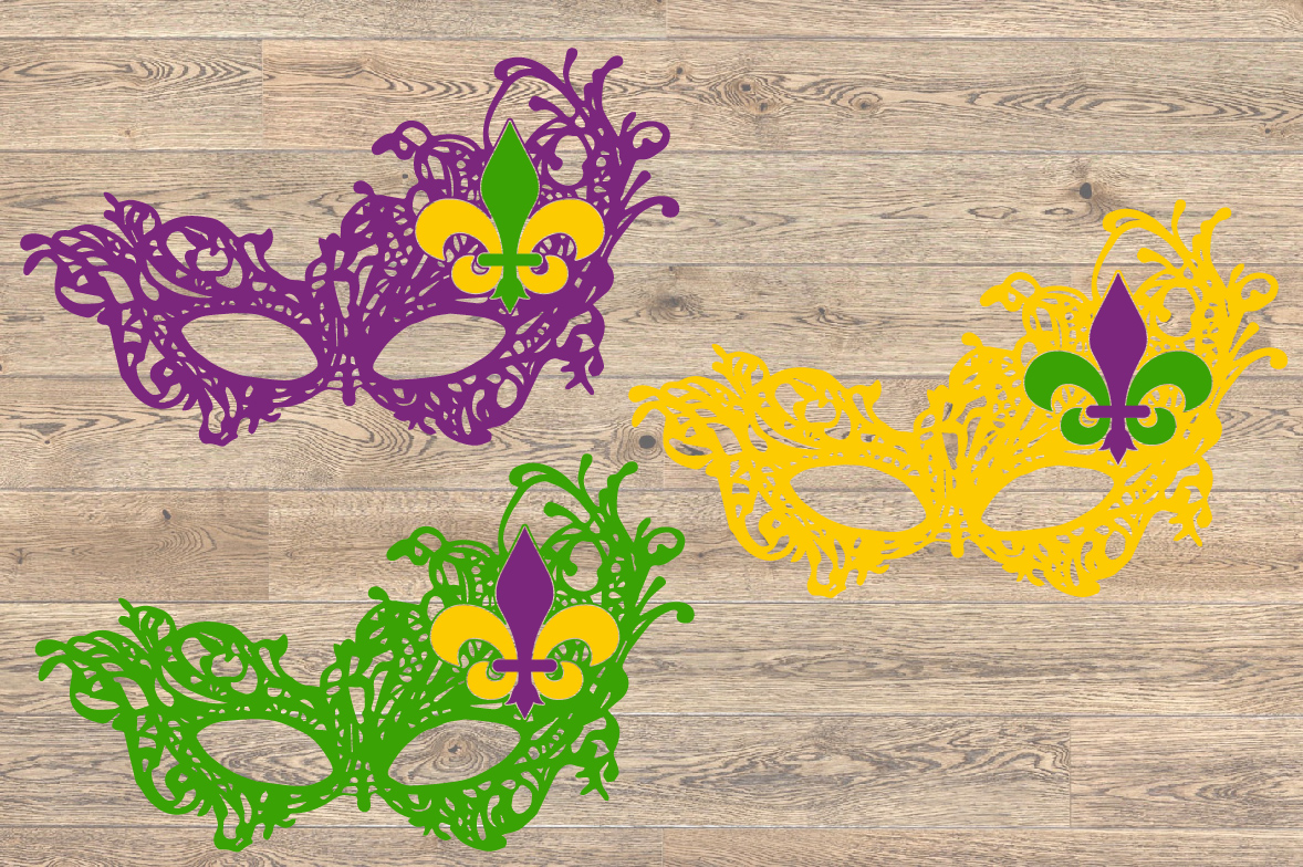 Mask Mardi Gras SVG Louisiana Fat Tuesday 1254S example image 2