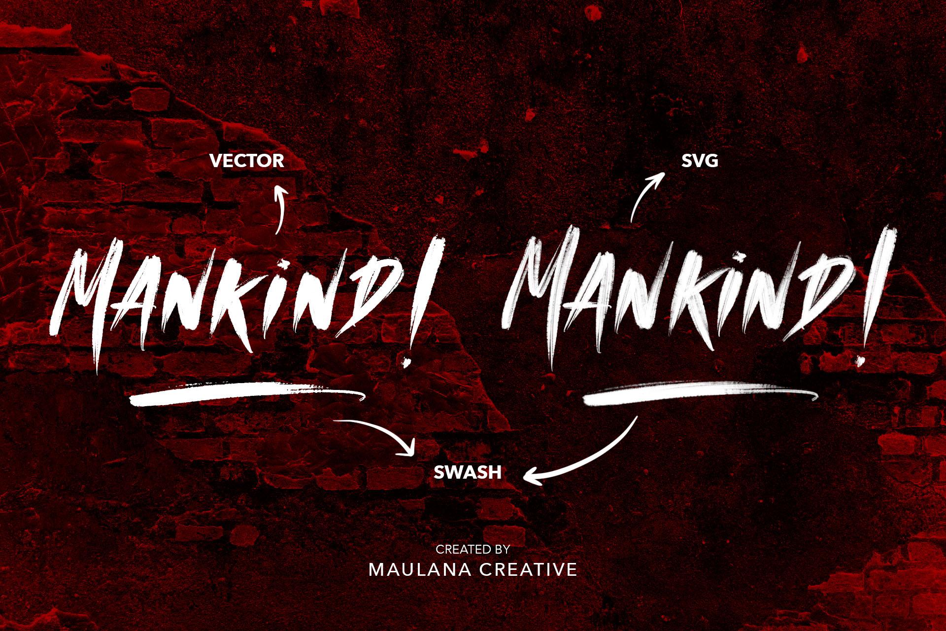 MANKIND - SVG Brush Font example image 2