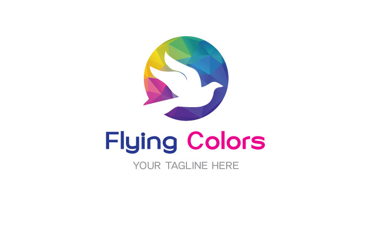 Colorful Flying Dove Bird Logo example image 1