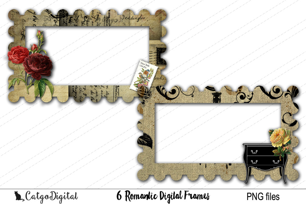 Digital Frames Clip Art PNG files example image 3
