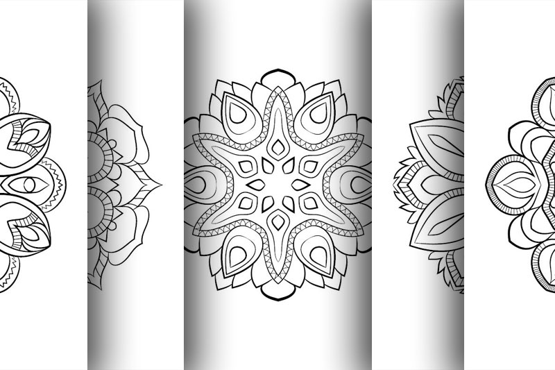 Coloring with 50 floral mandalas. Part two. example image 4