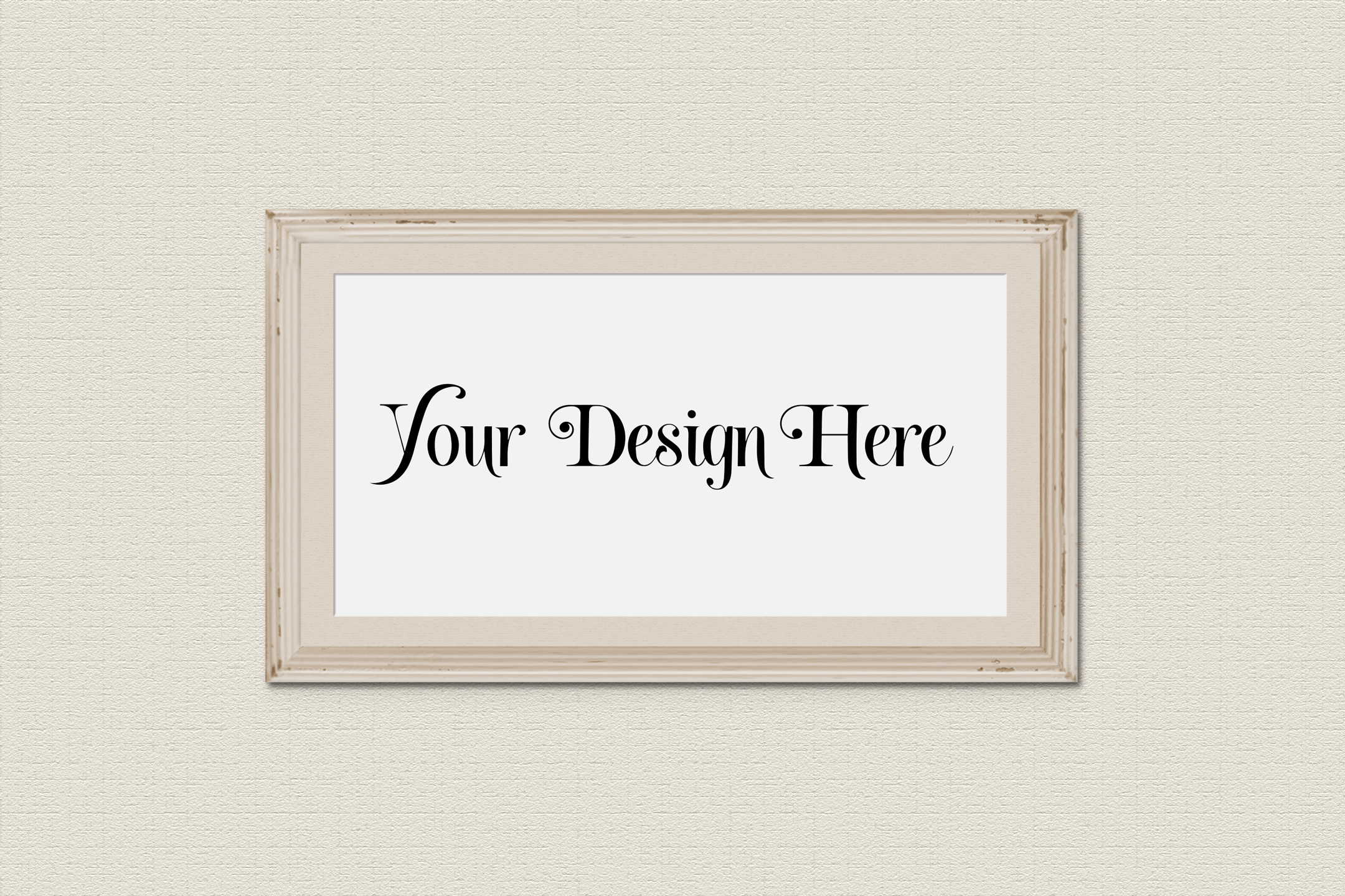 Horizontal Frame Mockup, Photoshop Smart Object, PSD example image 3