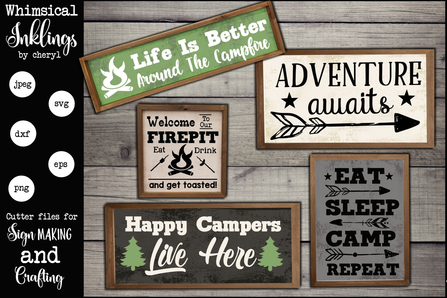 Happy Campers SVG Set example image 1