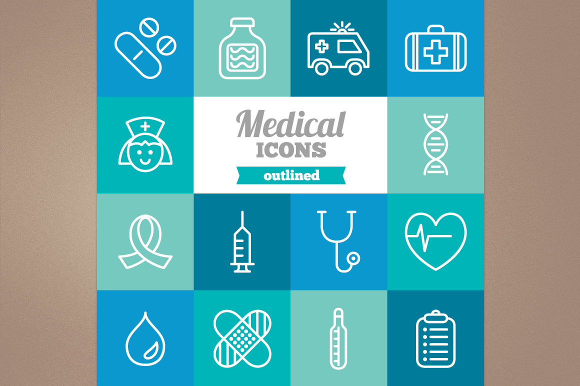 Outlined Medical Icons example image 1