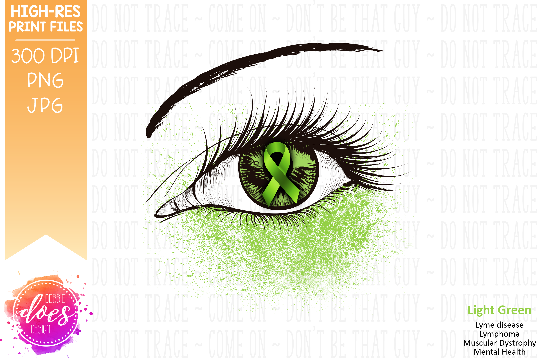 Light Green Awareness Ribbon Eye - Printable Design example image 2