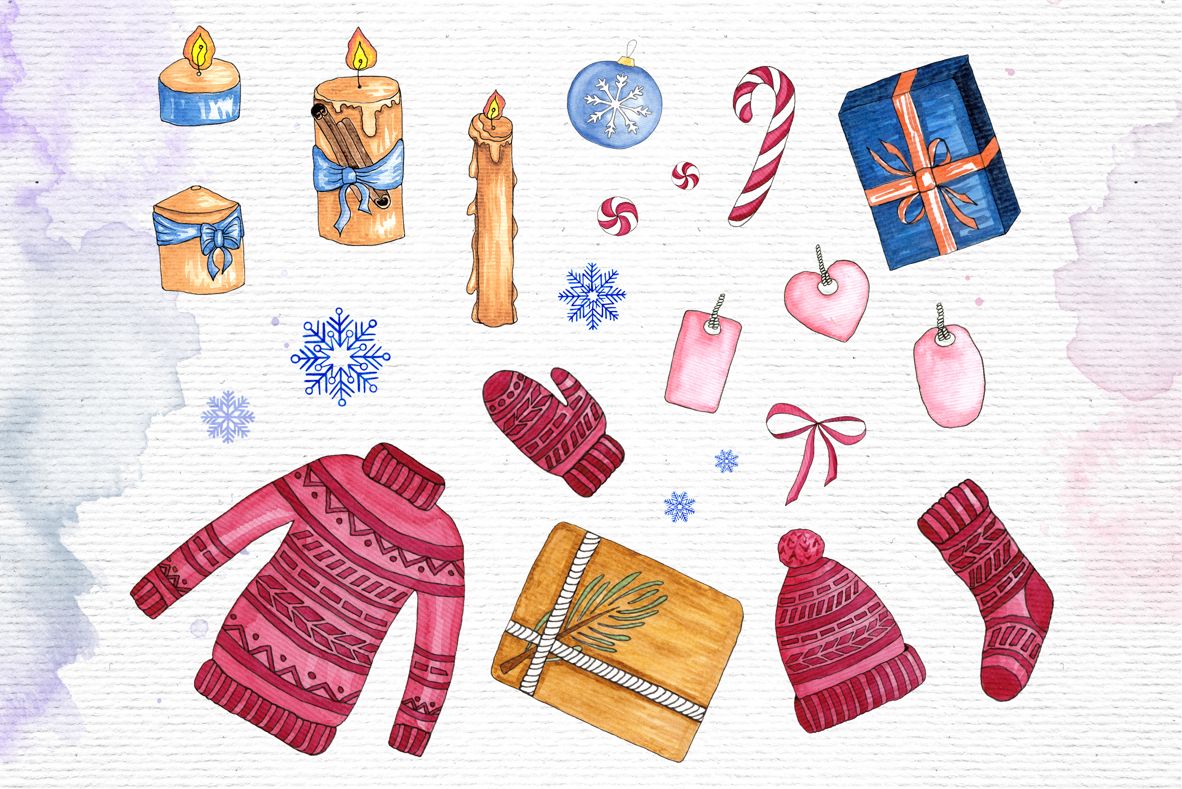 Watercolor Winter Illustrations example image 3