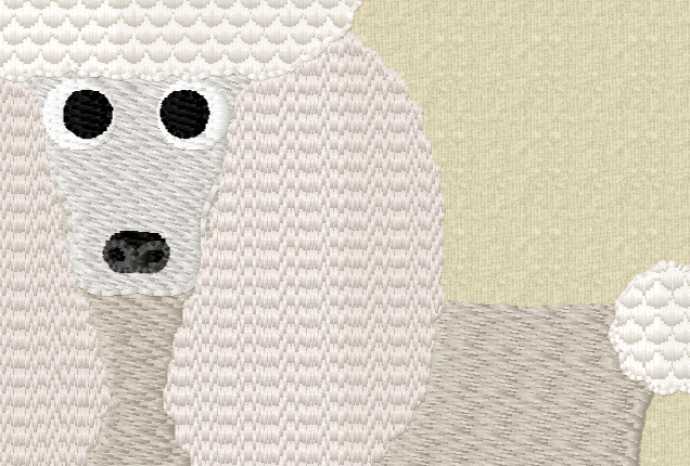 POODLE Embroidery Design in 2 sizes example image 5