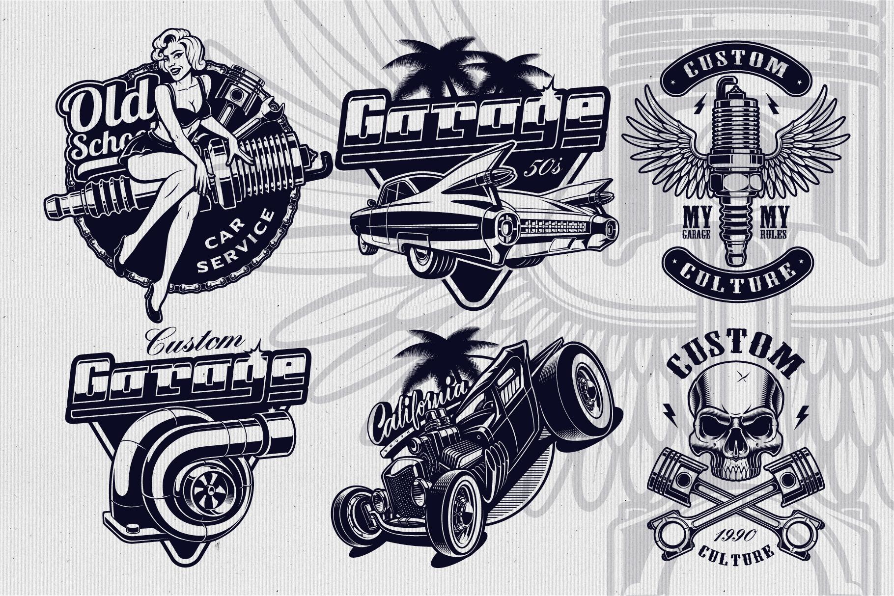 Car Service Vector Designs example image 3