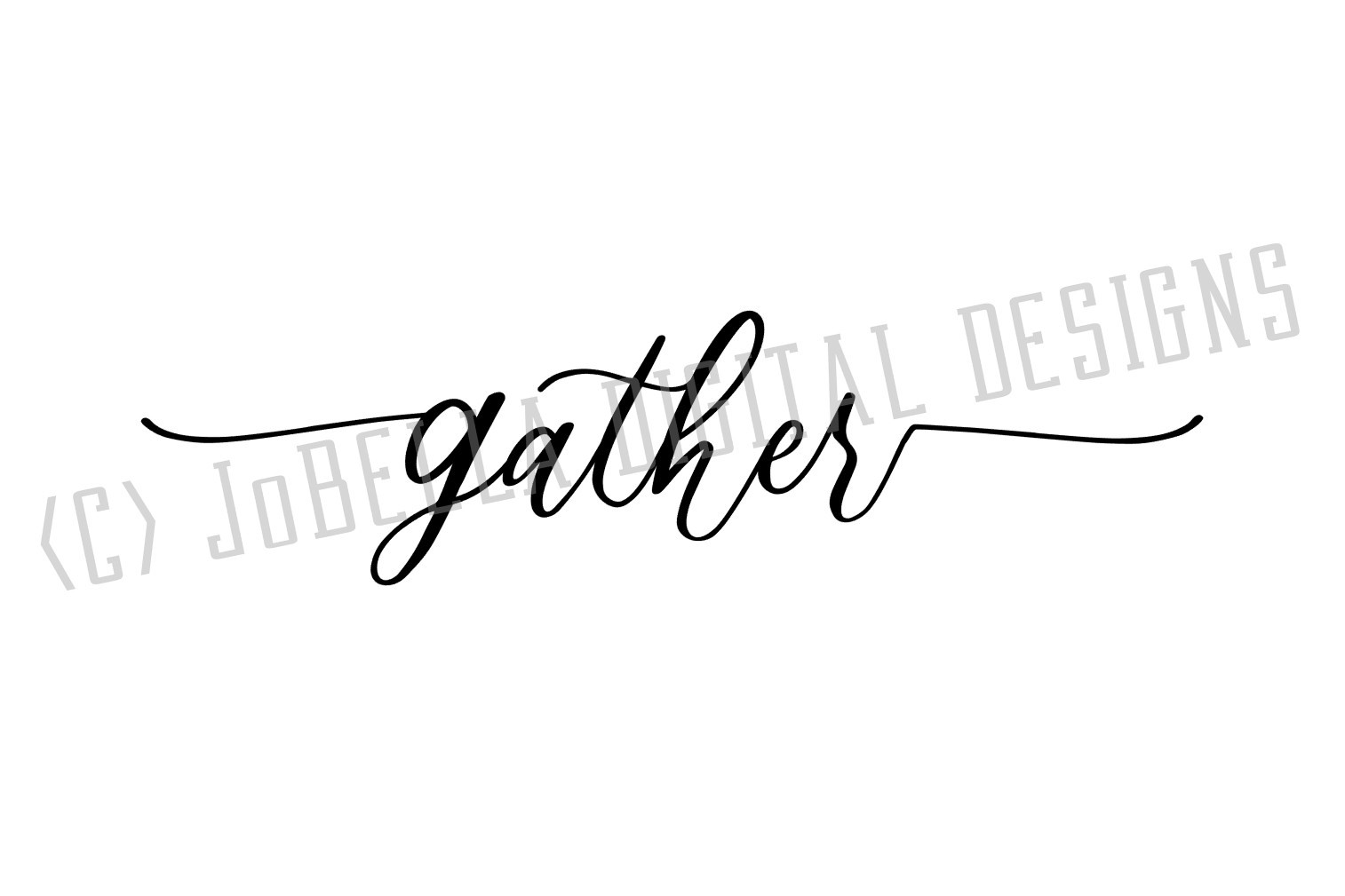 Farmhouse Gather SVG and Printable Lower Case Script Design example image 2