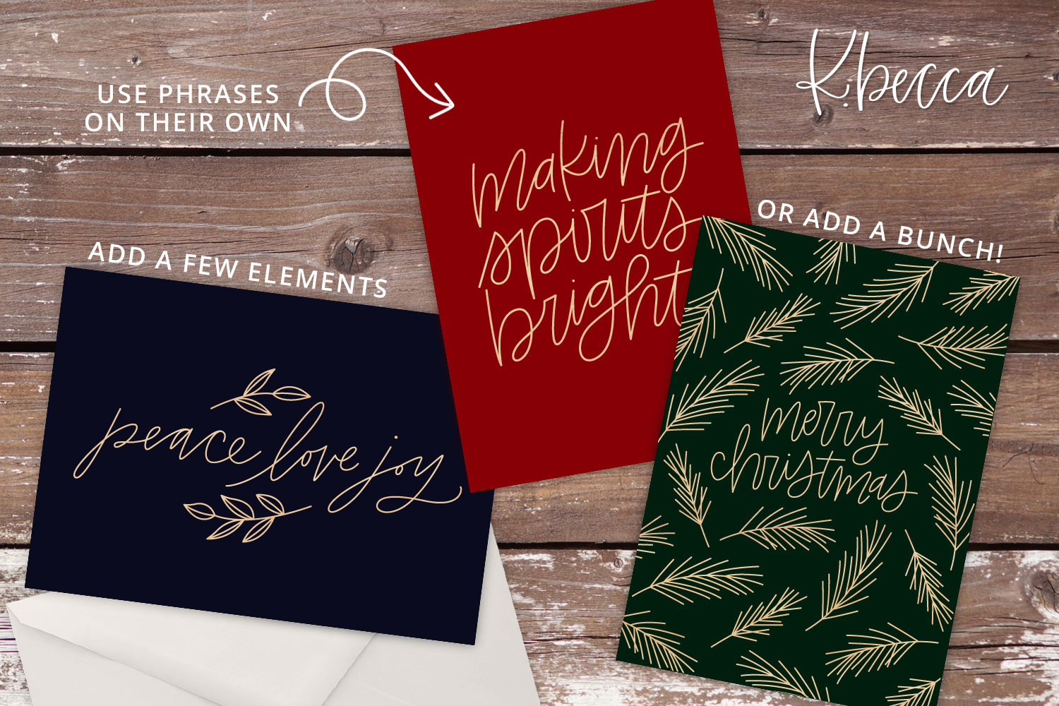 Foil Quill Single Line Sketch Christmas Phrases Bundle example image 2