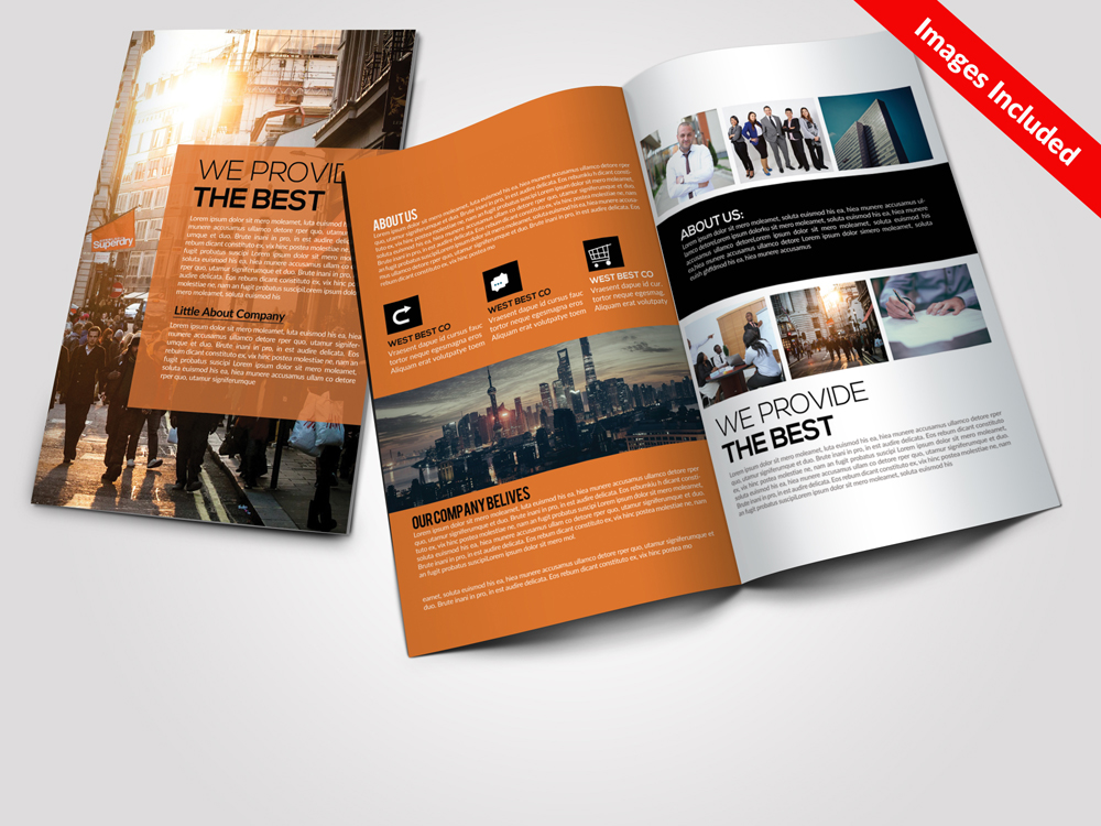 Business Corporate Bi Fold Brochures  example image 1