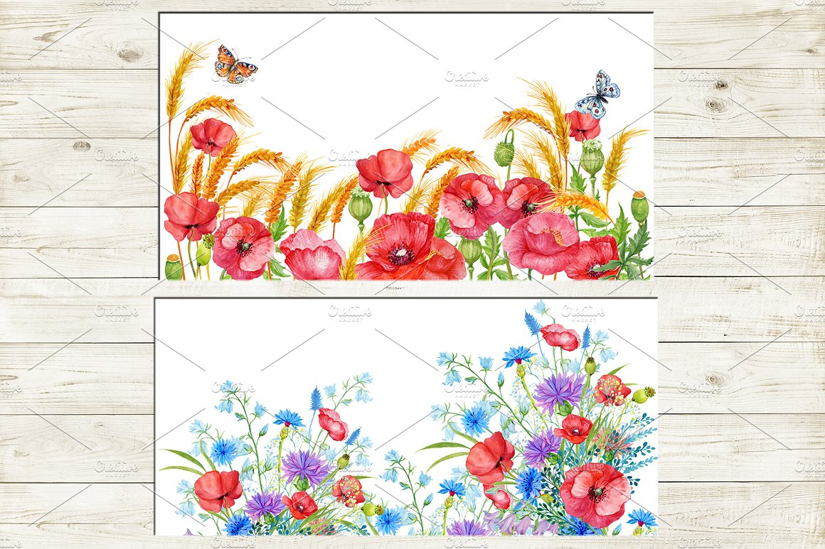 35 floral backgrounds watercolor example image 3