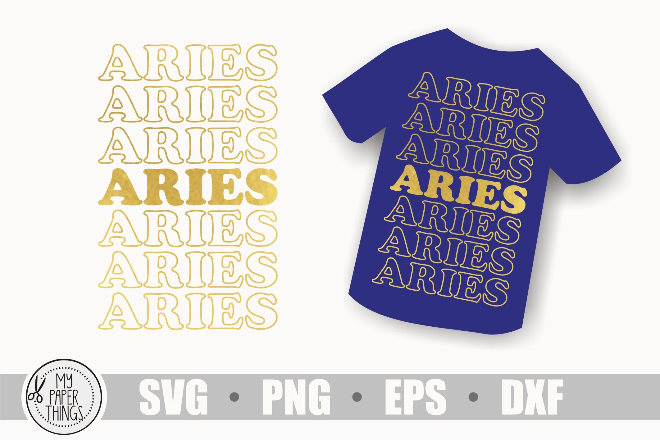 Aries svg bundle, Birthday svg, Zodiac sign example image 11