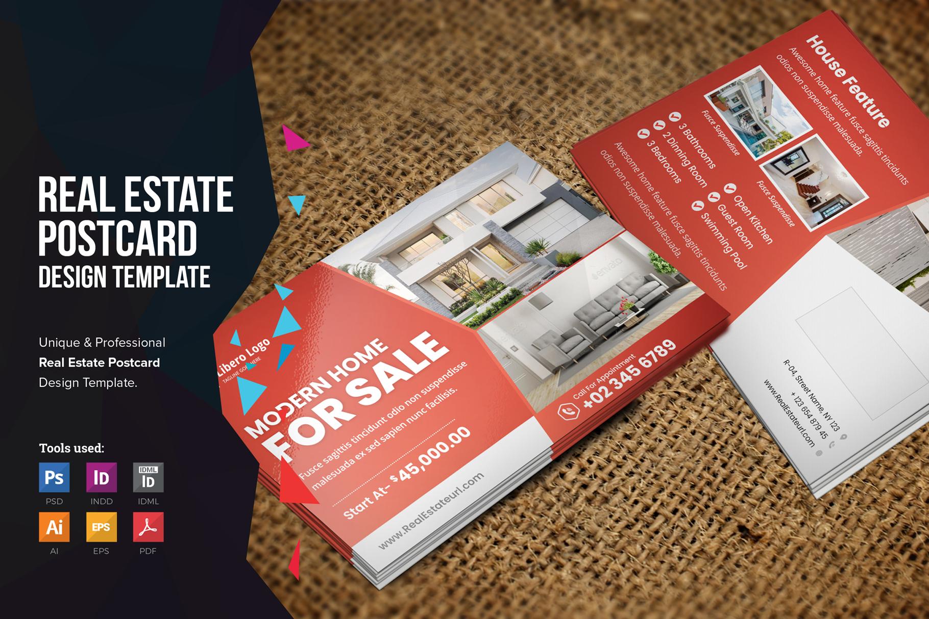 Real Estate Postcard Design v2 example image 1