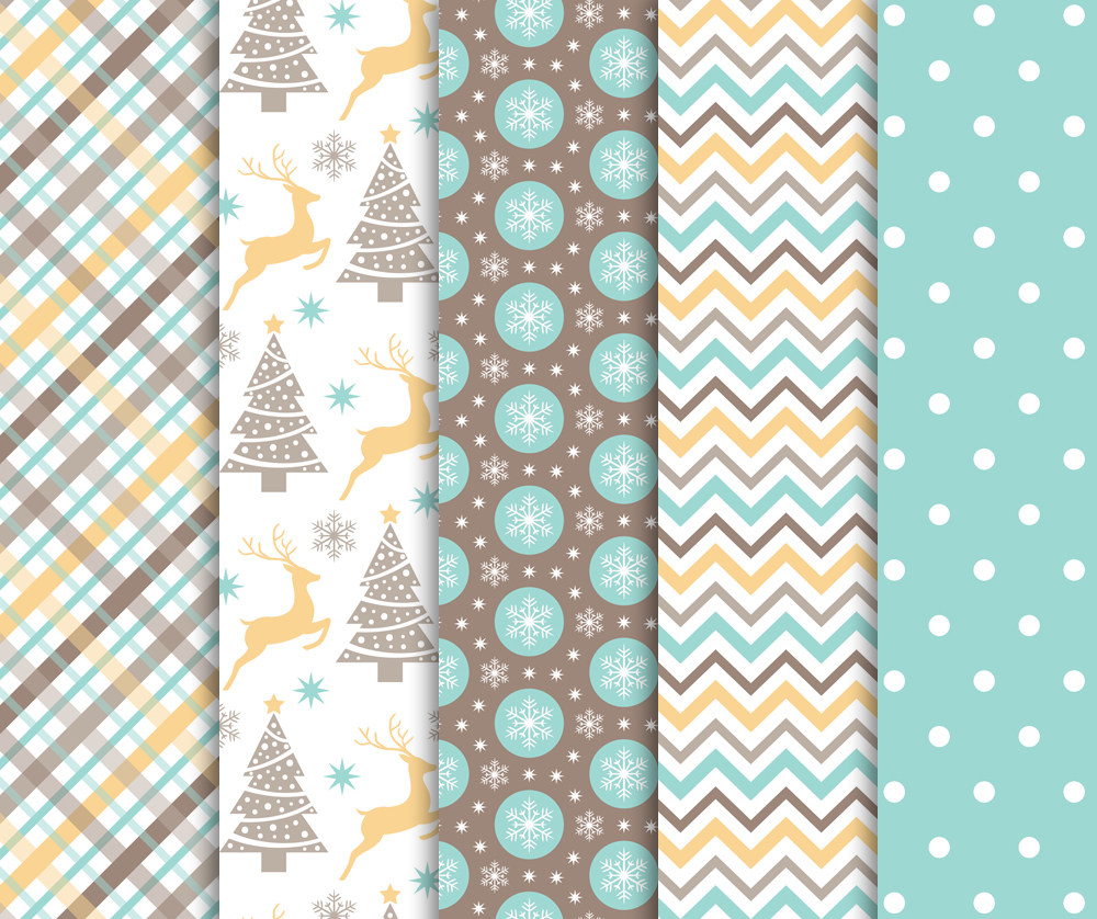 Christmas Digital Paper Pack / Backgrounds / Scrapbooking / Patterns / Printables / Card Making example image 2
