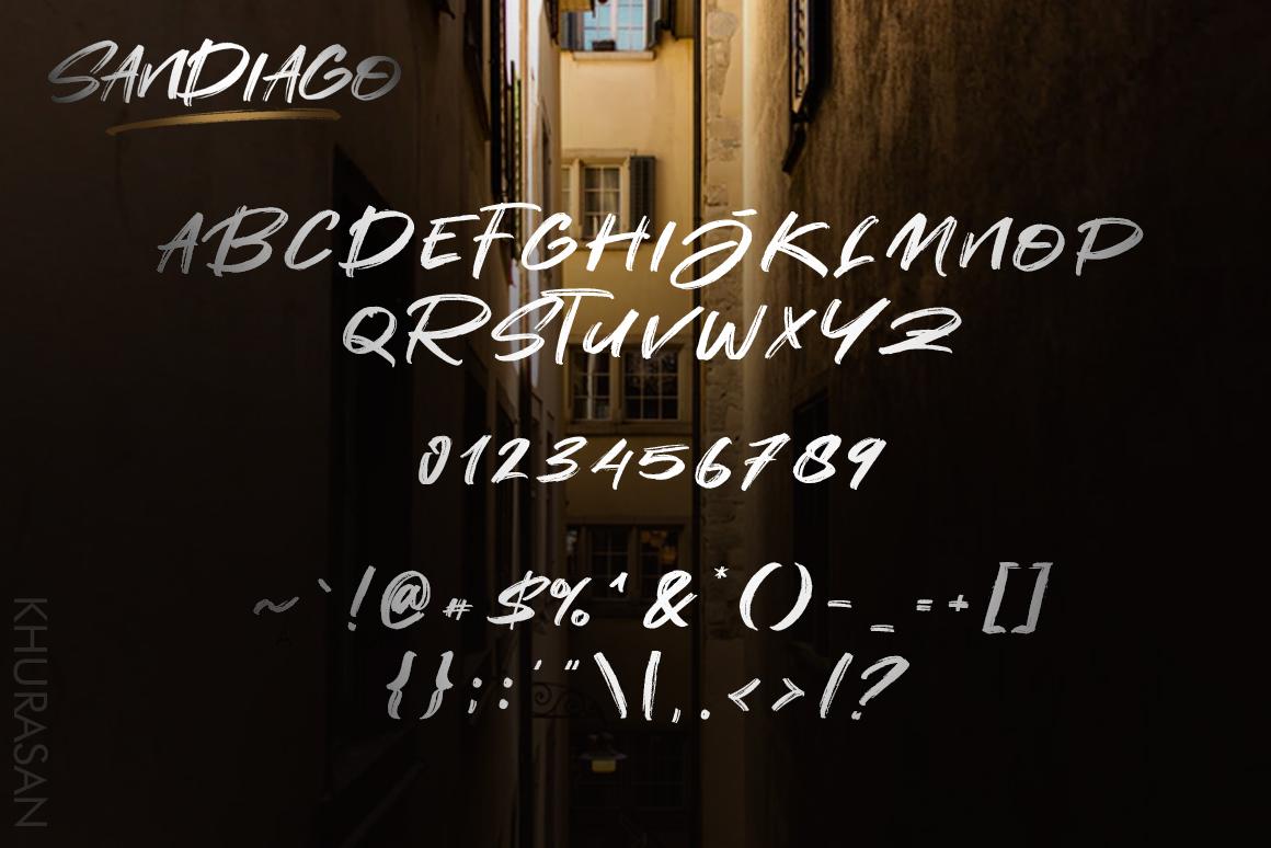 Sandiago Brush Font example image 6