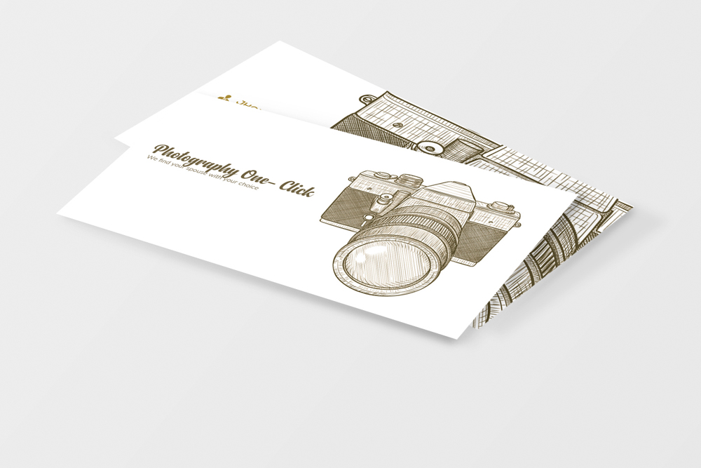 Vintage Retro Photography Business Cards example image 3
