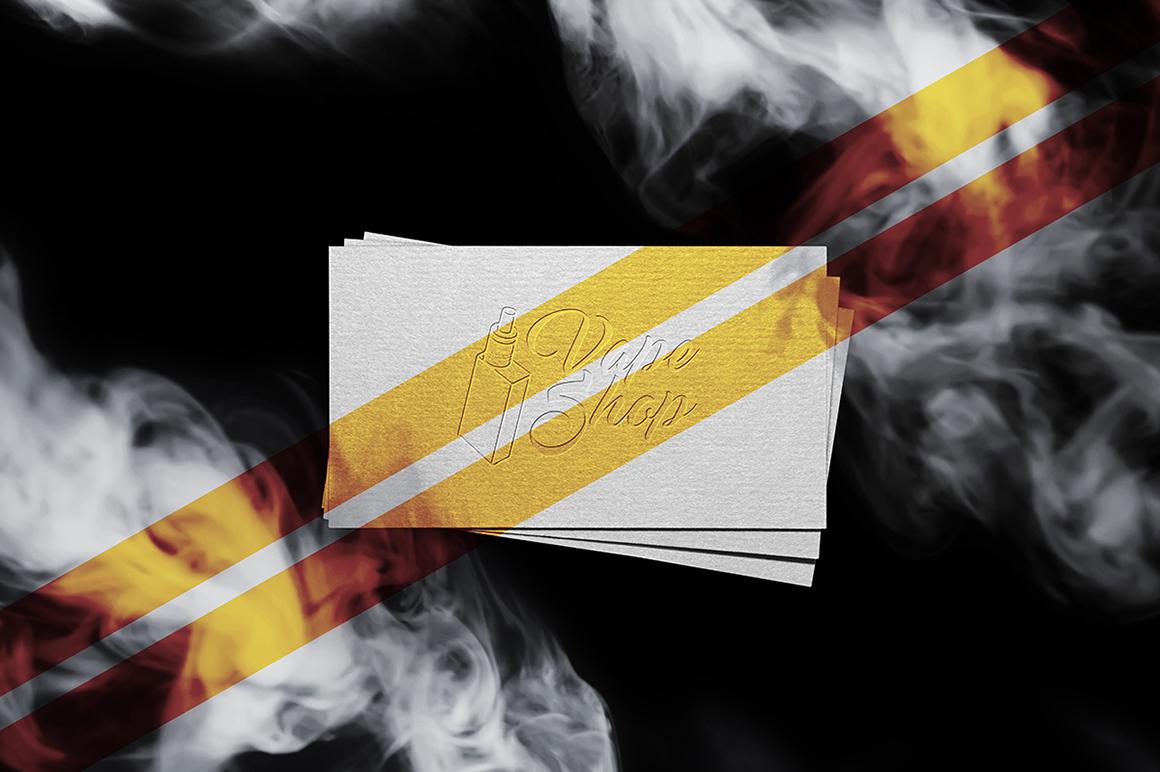 Smoke Business Card MockUp example image 2