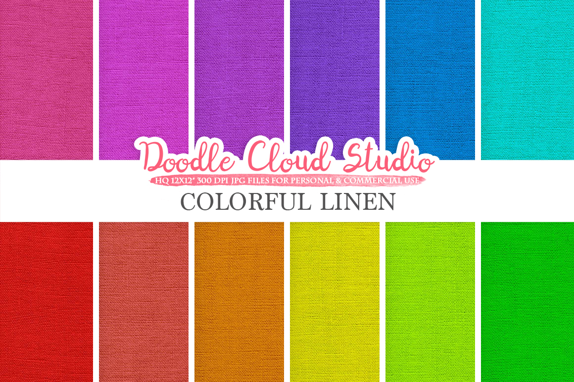 Colorful Linen Fabric digital paper pack, Colorful Backgrounds, linen burlap jute texture, Instant Download for Personal & Commercial Use example image 1