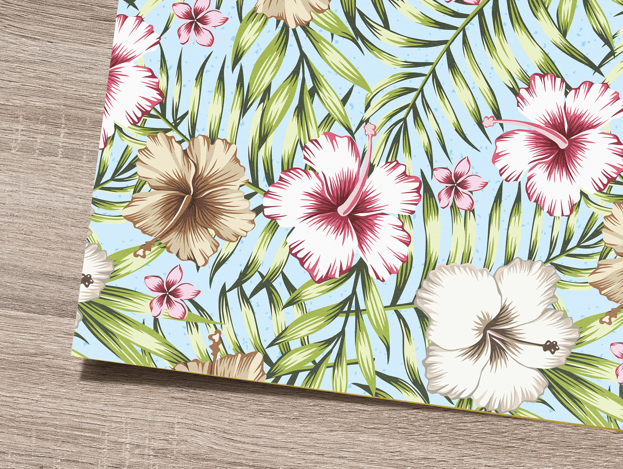 Tropical flowers and leaves pattern. Seamless design. example image 4
