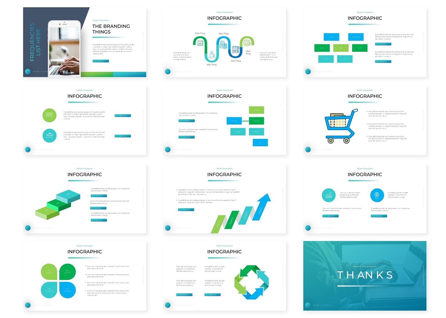 Trendio   Powerpoint, Keynote, GoogleSlides Template example image 6