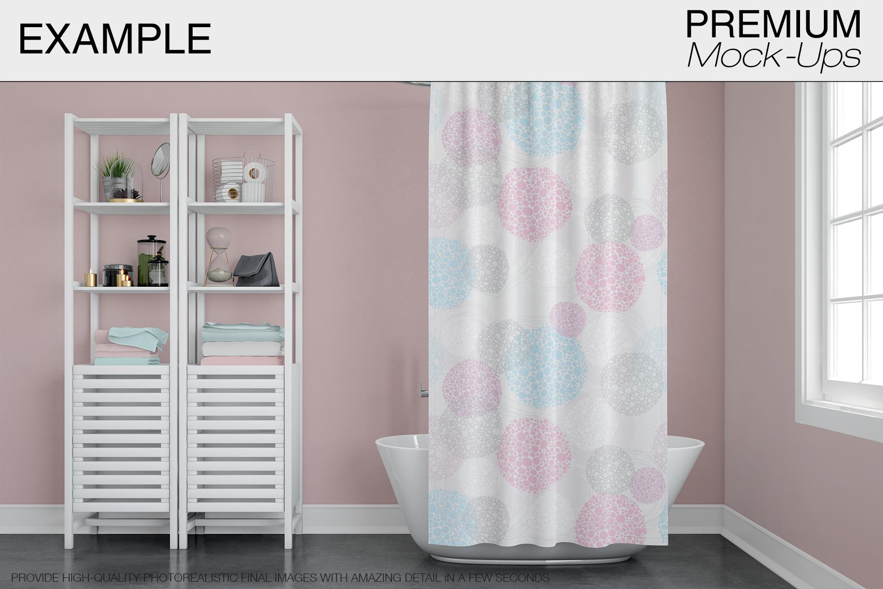 Bath Curtain Mockup Pack example image 10