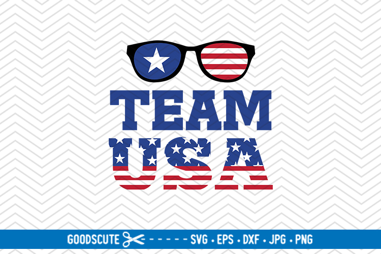 Team USA - SVG DXF JPG PNG EPS example image 1
