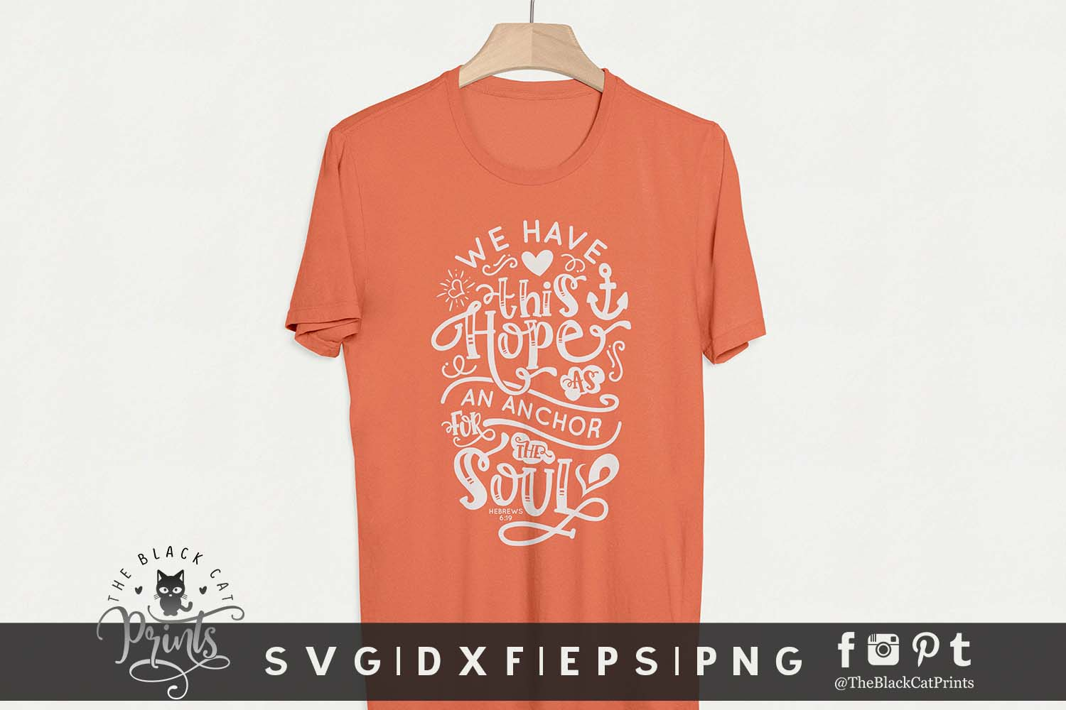 Hope Is An Anchor For The Soul SVG DXF EPS PNG| Easter svg example image 3