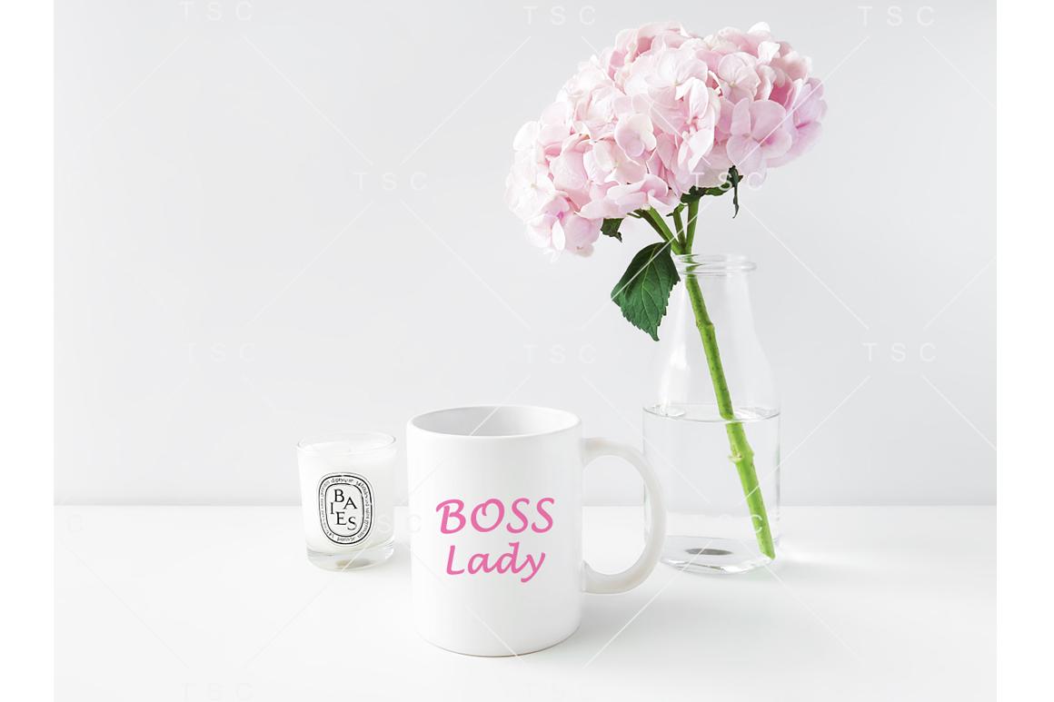Feminine White Mug Mockup example image 2
