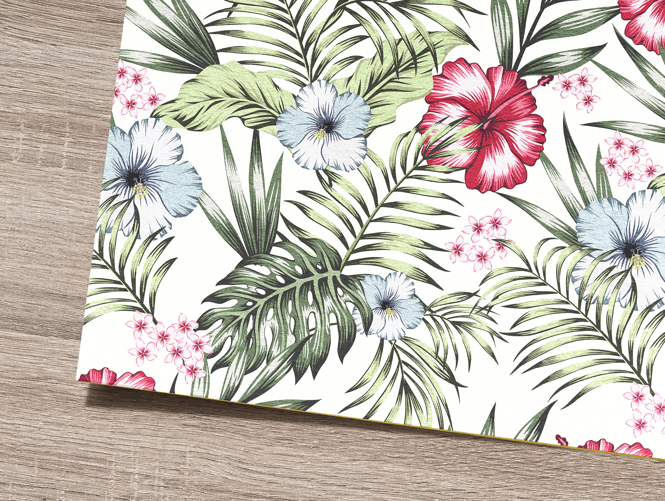 Tropical flowers and leaves pattern. Seamless design. example image 9