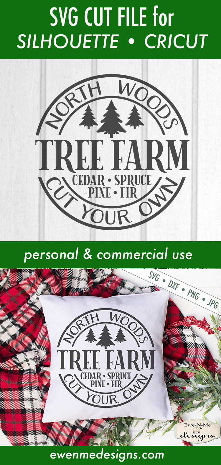 North Woods Tree Farm - Christmas Tree - SVG example image 3