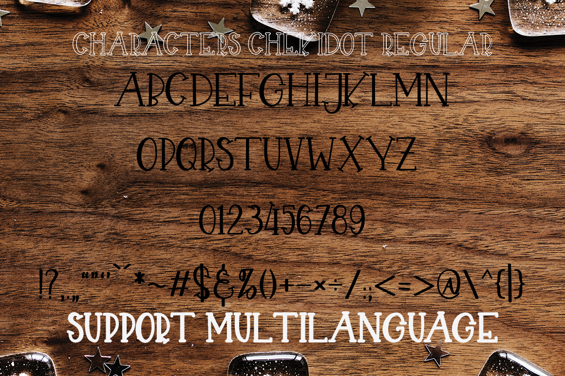 CHEKIDOT - A FUN WITH TRIO STYLE FONT example image 6