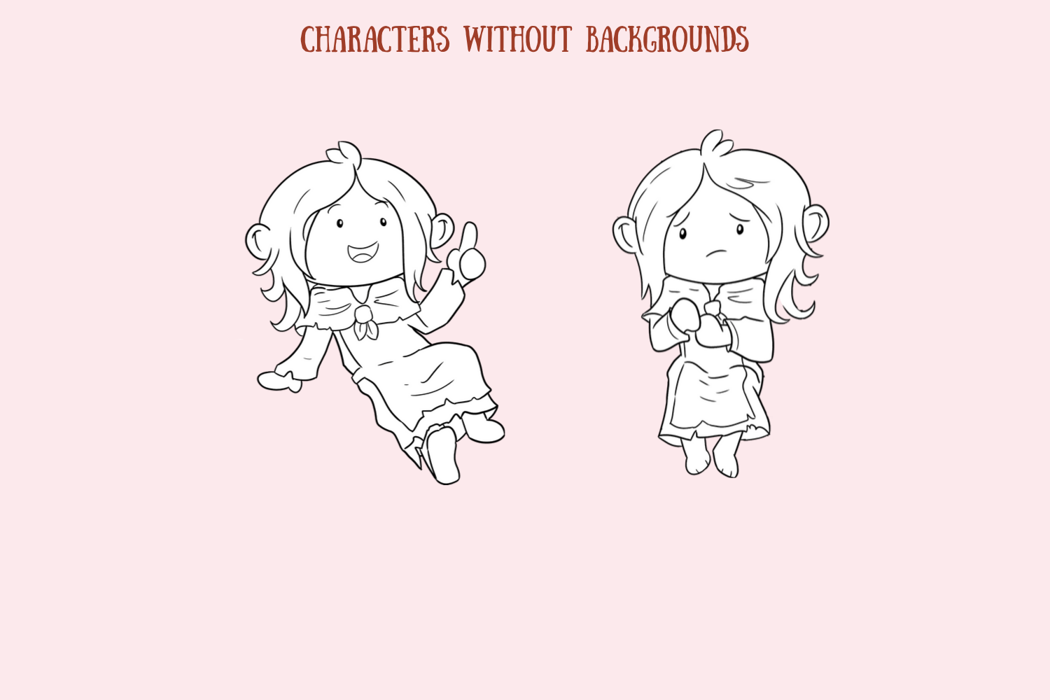 Little Matchstick Girl Fairy Tale Clip Art Collection example image 4