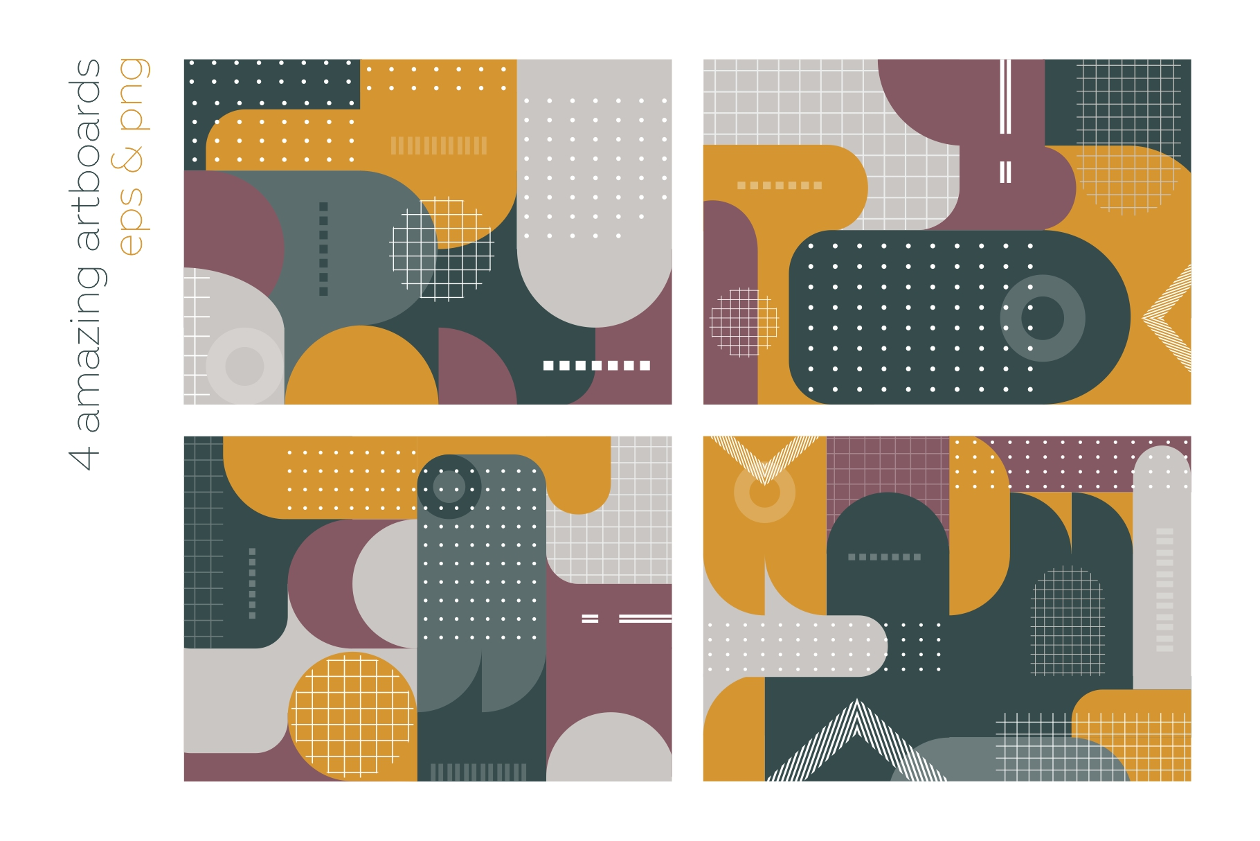 Old school geometry pattern collection example image 8