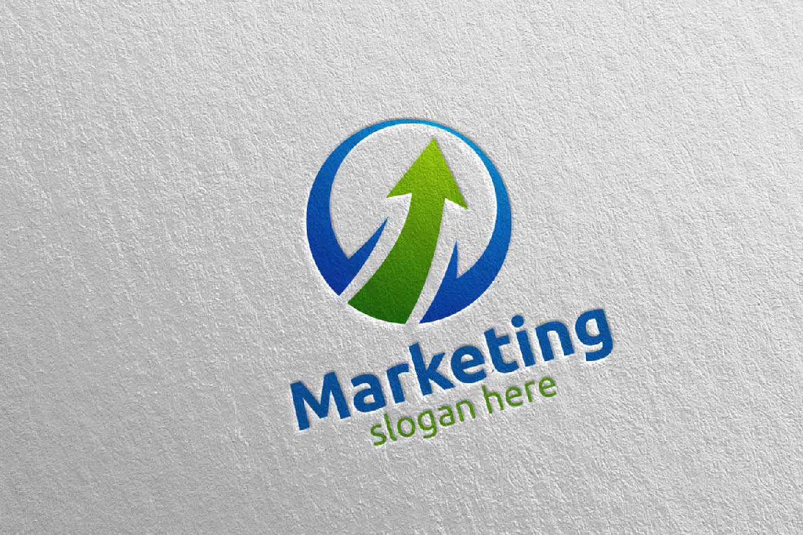 Marketing Financial Advisor Logo Design 28 example image 4